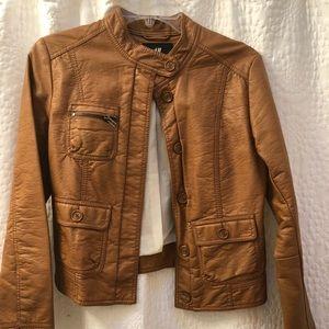 Light tan faux leather jacket